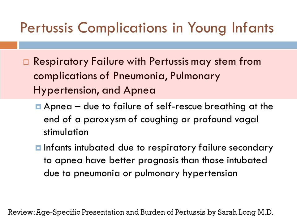 Pertussis Complications in Young Infants