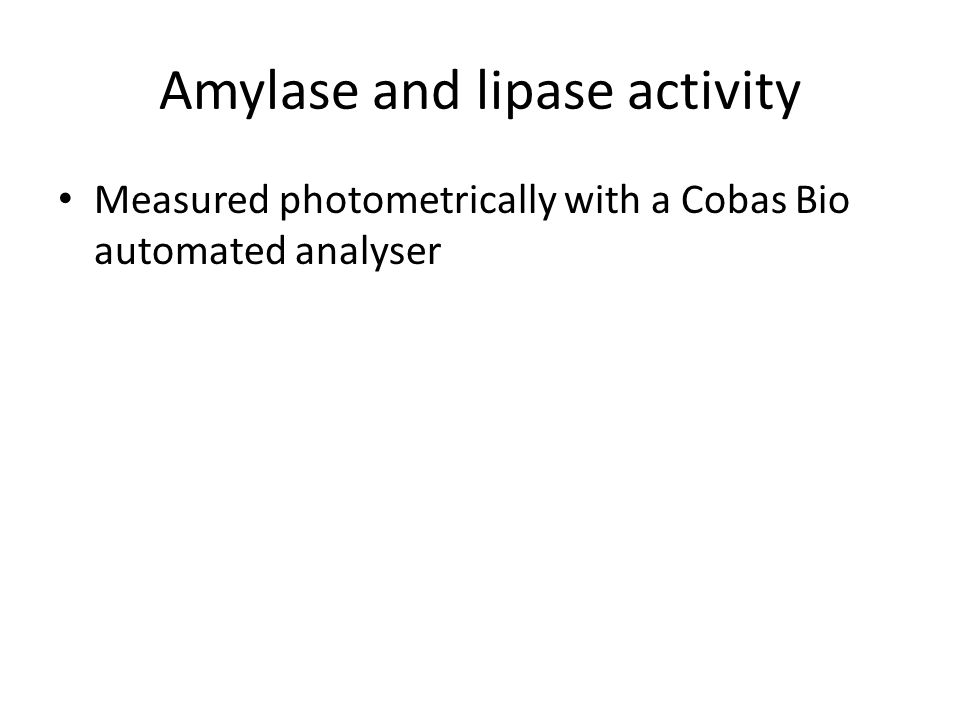 Amylase and lipase activity