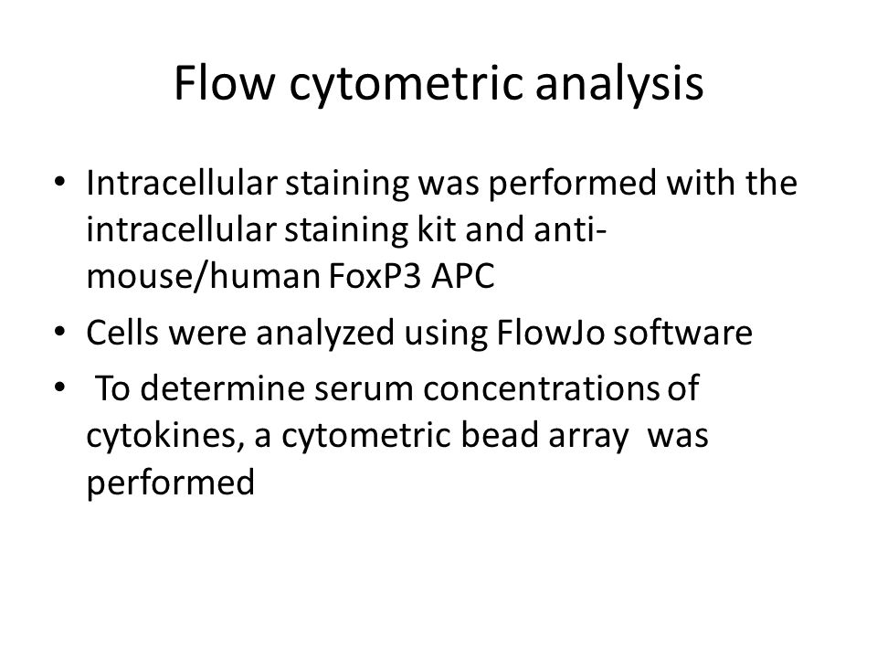 Flow cytometric analysis