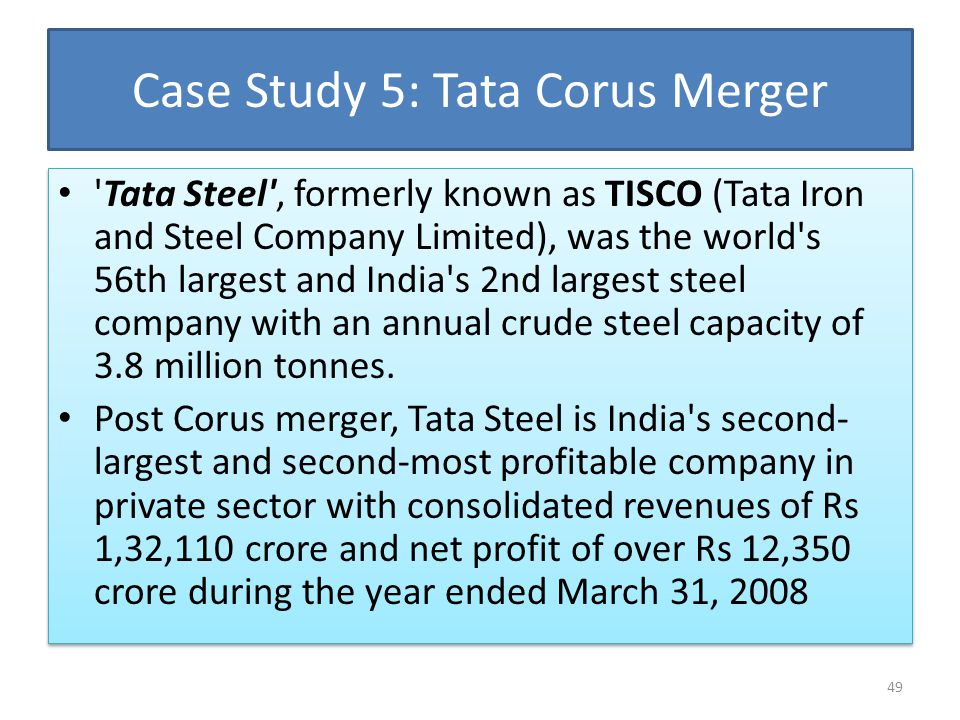 advantages and disadvantages of tata corus acquisition Merger and acquisition a study on tata corus it is very important to study the merger and acquisition of tata corus what are the advantages and disadvantages.