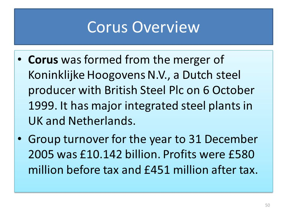 Corus Overview