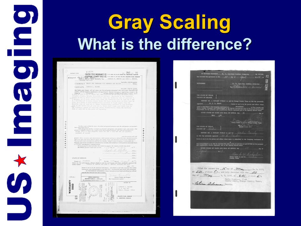 Gray Scaling What is the difference