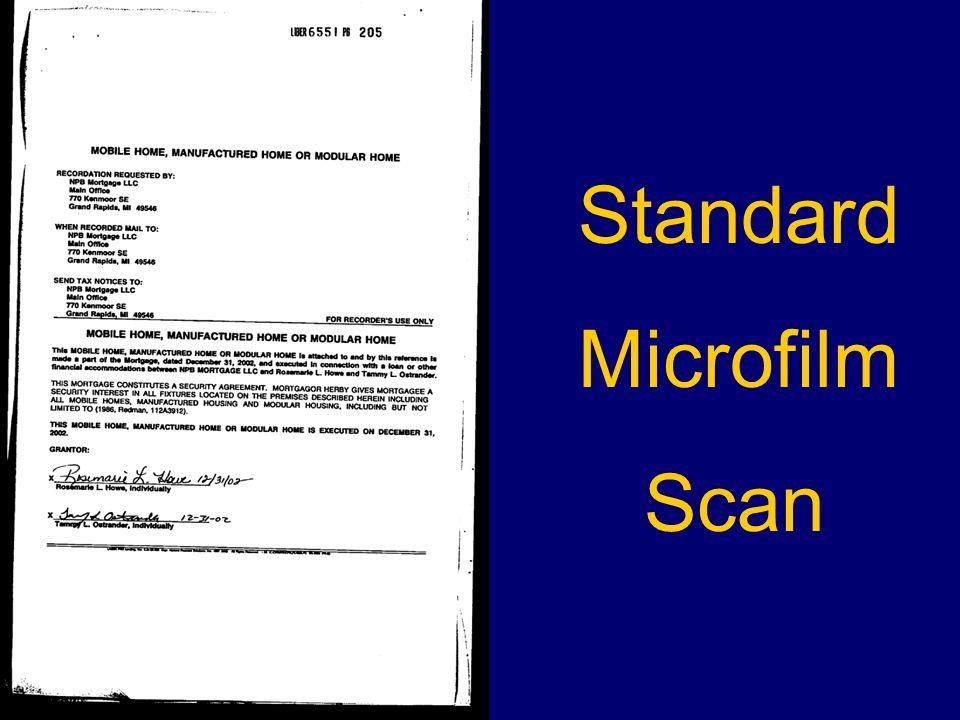 Standard Microfilm Scan