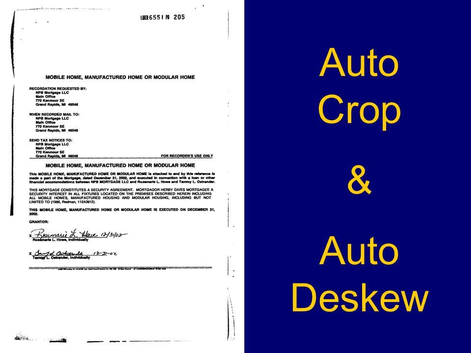 Auto Crop & Auto Deskew