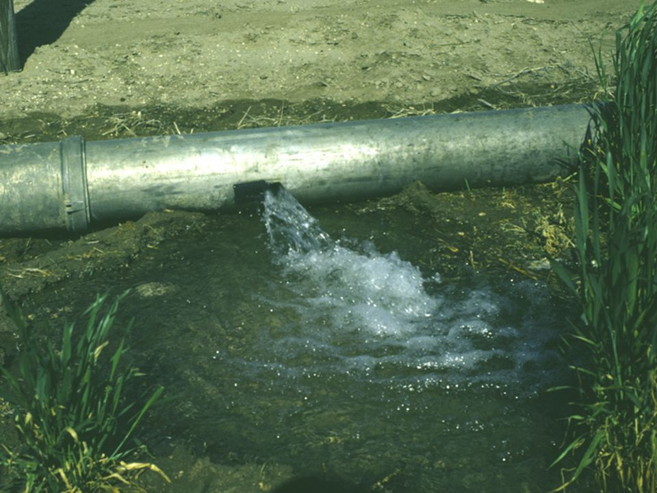 The pipe gates can be opened varying amounts to control the size of the furrow stream.