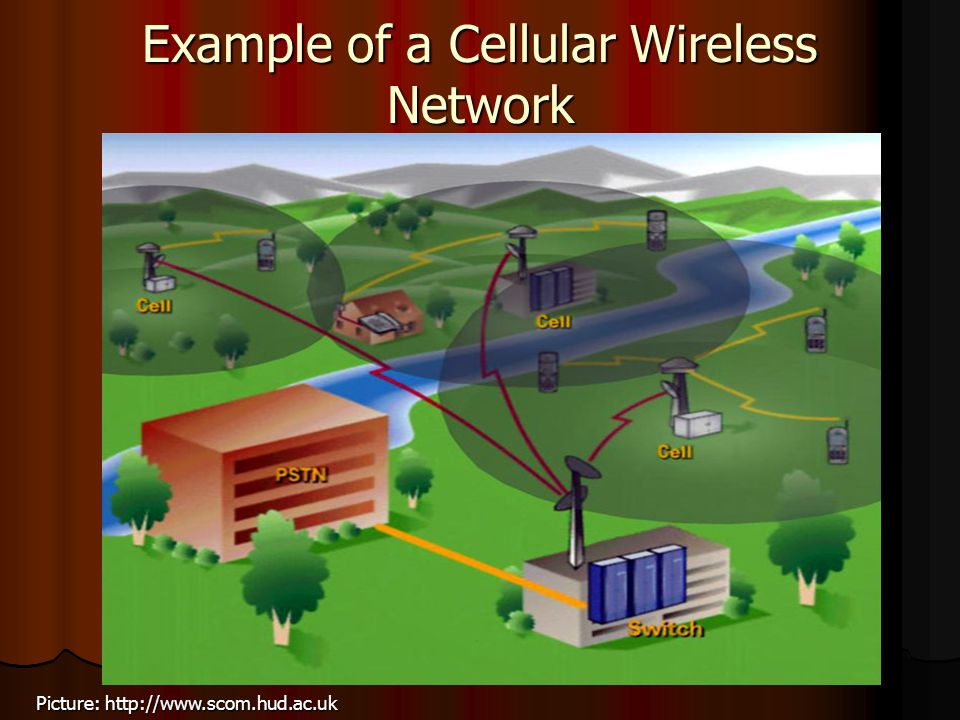 Example of a Cellular Wireless Network