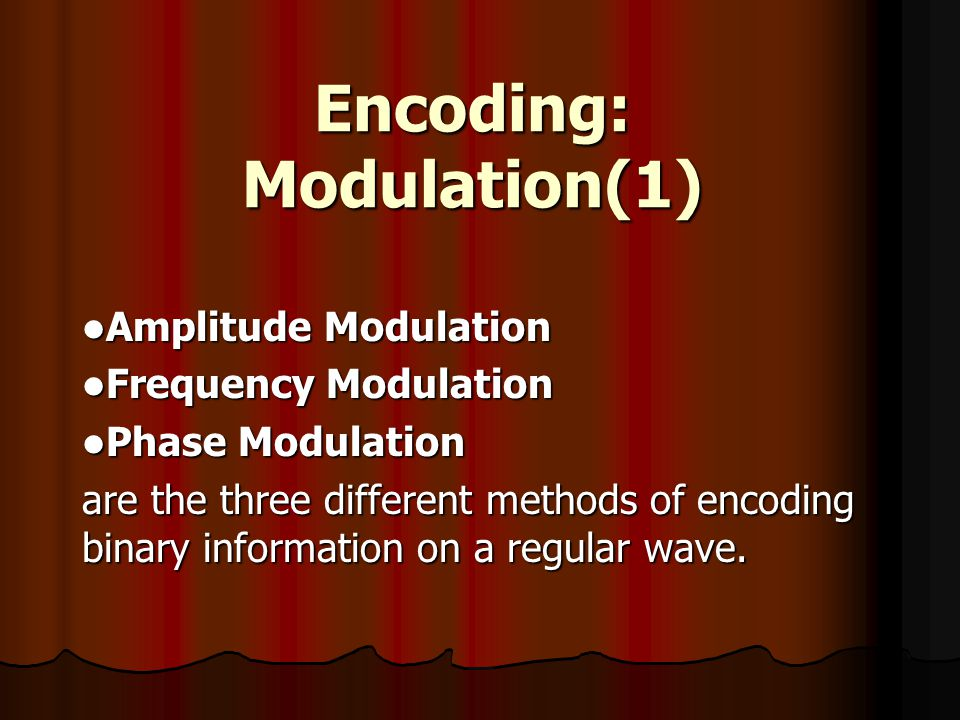 Encoding: Modulation(1)