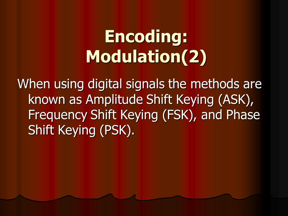 Encoding: Modulation(2)
