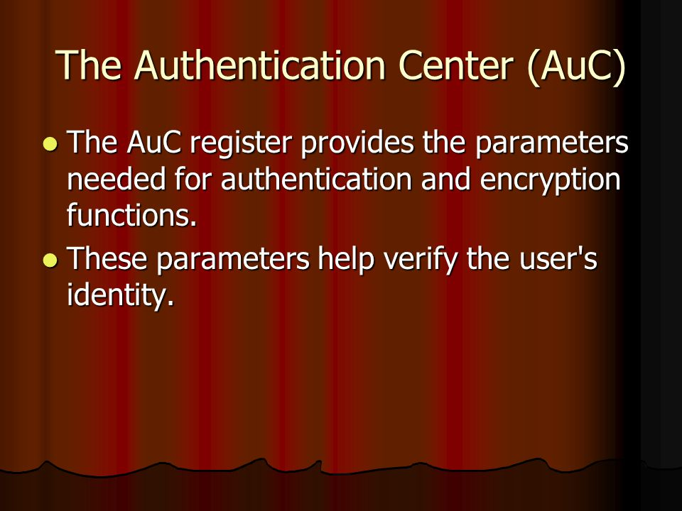 The Authentication Center (AuC)