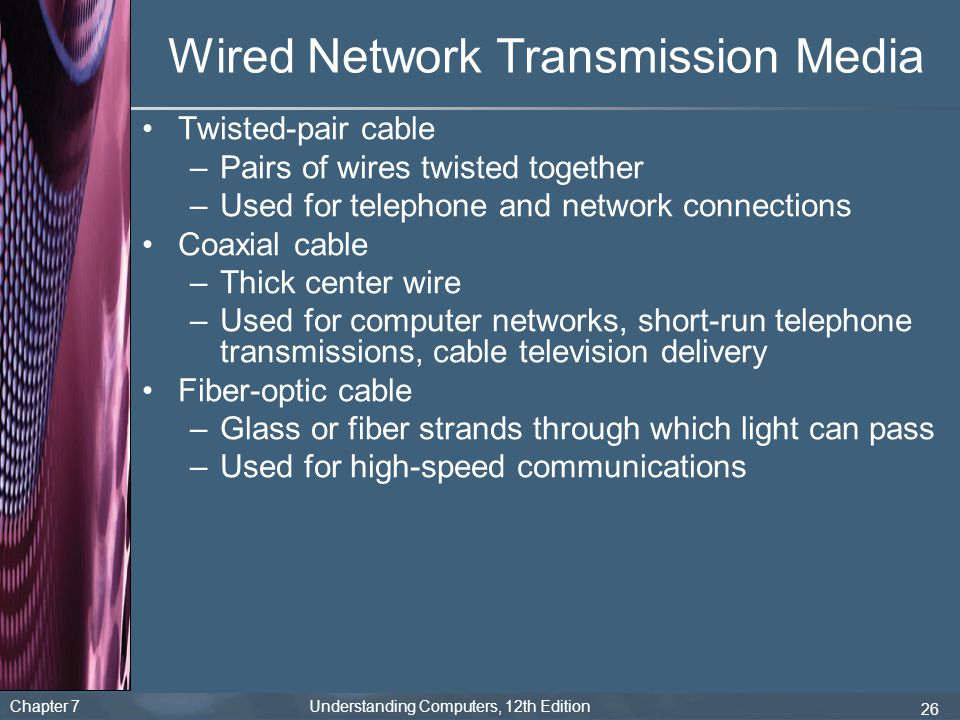 Wired Network Transmission Media