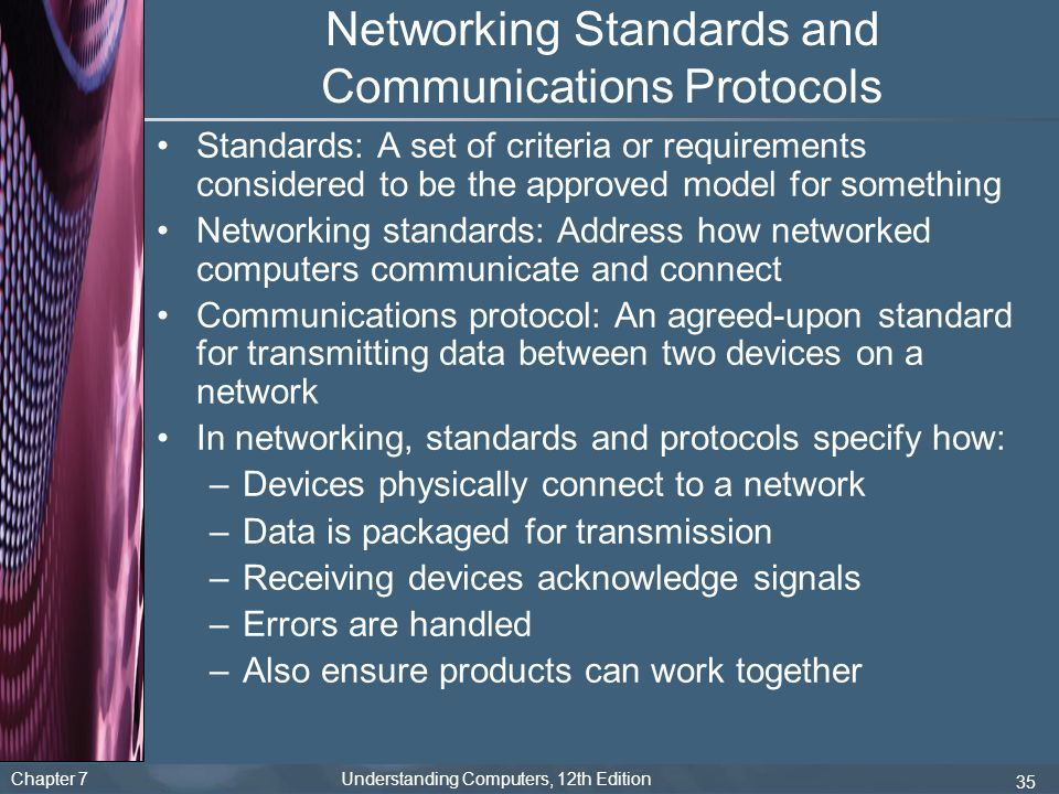 Networking Standards and Communications Protocols