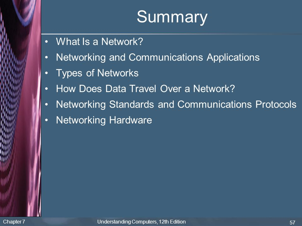 Summary What Is a Network Networking and Communications Applications