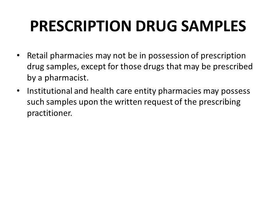 PRESCRIPTION DRUG SAMPLES