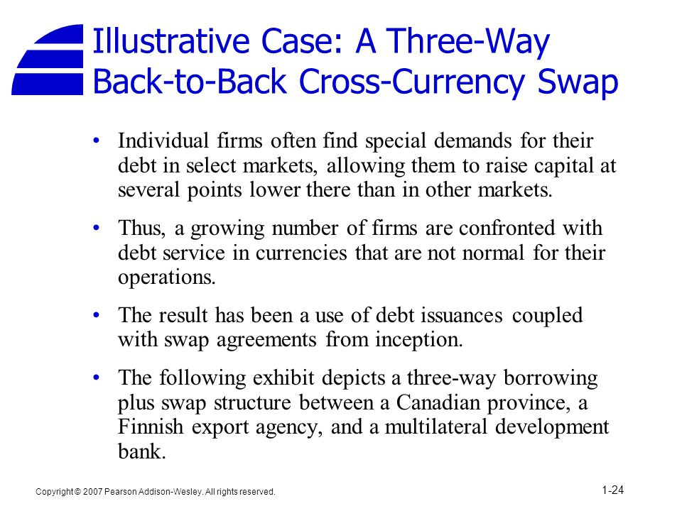 Illustrative Case: A Three-Way Back-to-Back Cross-Currency Swap