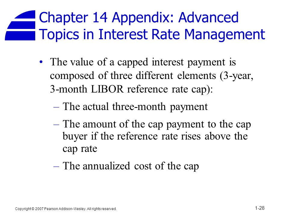 Chapter 14 Appendix: Advanced Topics in Interest Rate Management