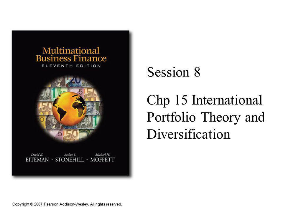Chp 15 International Portfolio Theory and Diversification