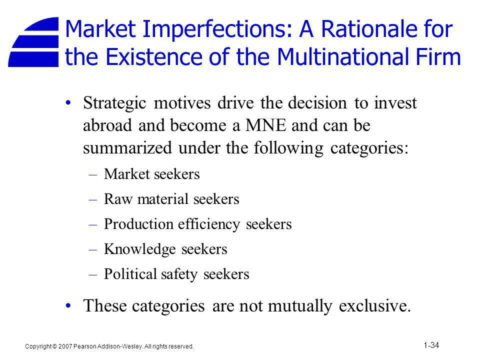 Market Imperfections: A Rationale for the Existence of the Multinational Firm
