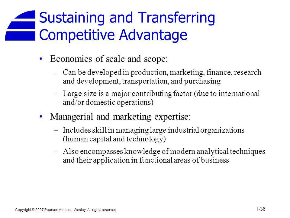Sustaining and Transferring Competitive Advantage