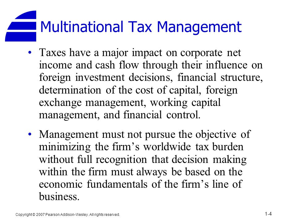 Multinational Tax Management