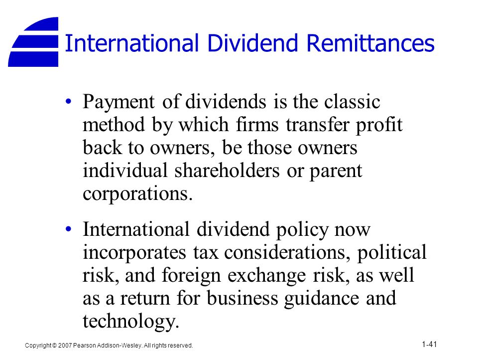 International Dividend Remittances