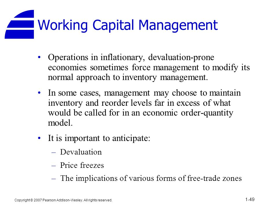 Working capital management for the multinational firm: A simulation model