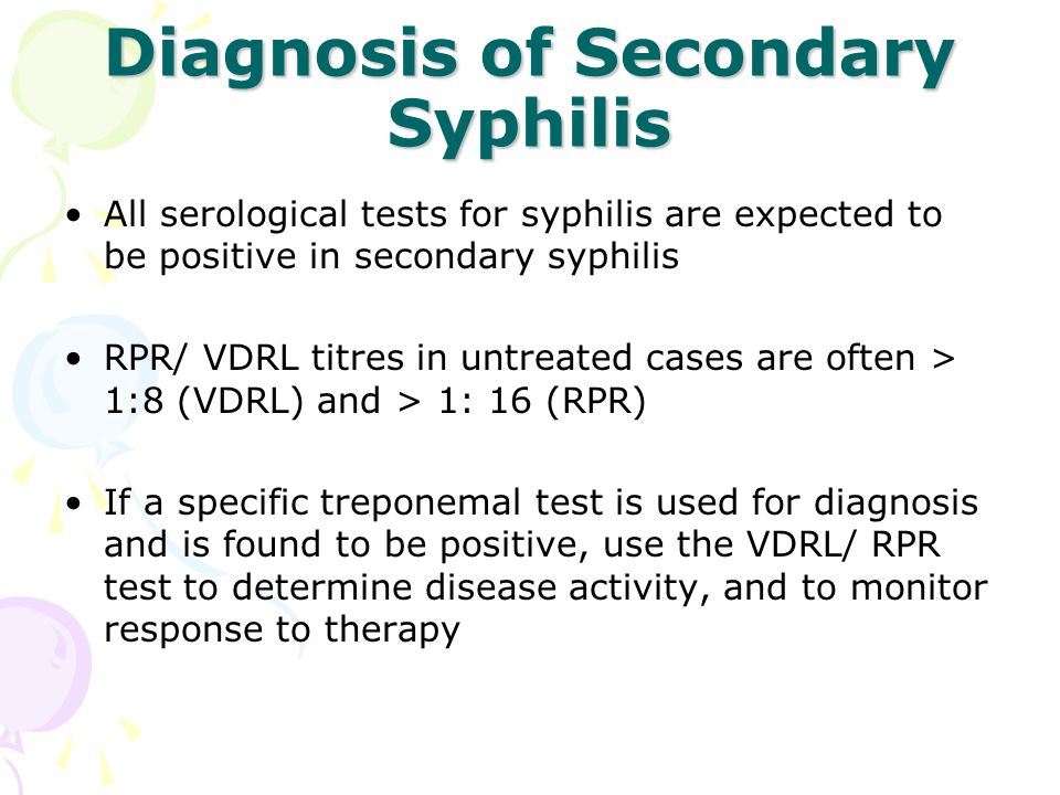 Diagnosis of Secondary Syphilis