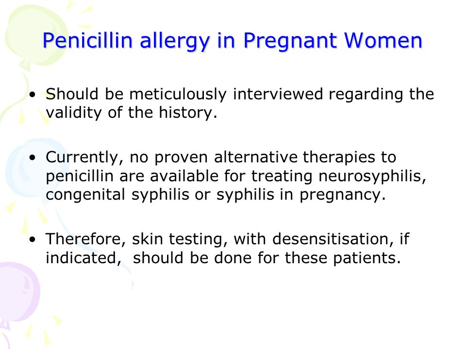 Penicillin allergy in Pregnant Women