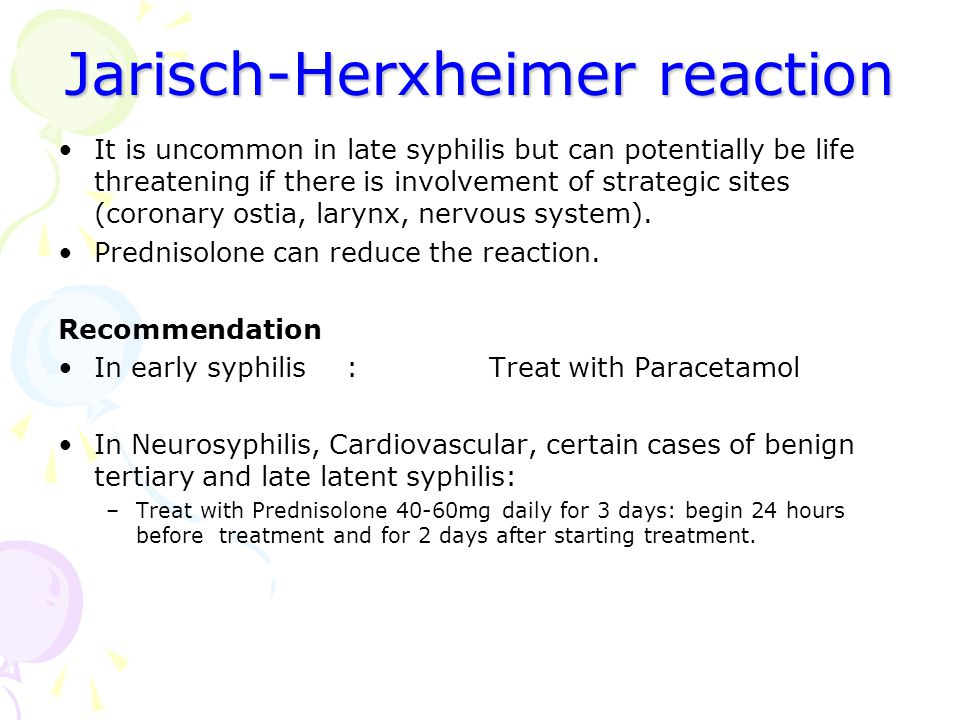 Jarisch-Herxheimer reaction