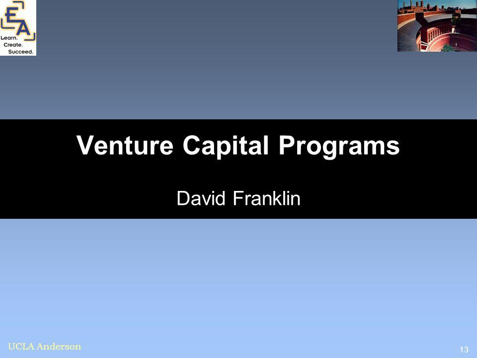 Venture Capital Programs David Franklin