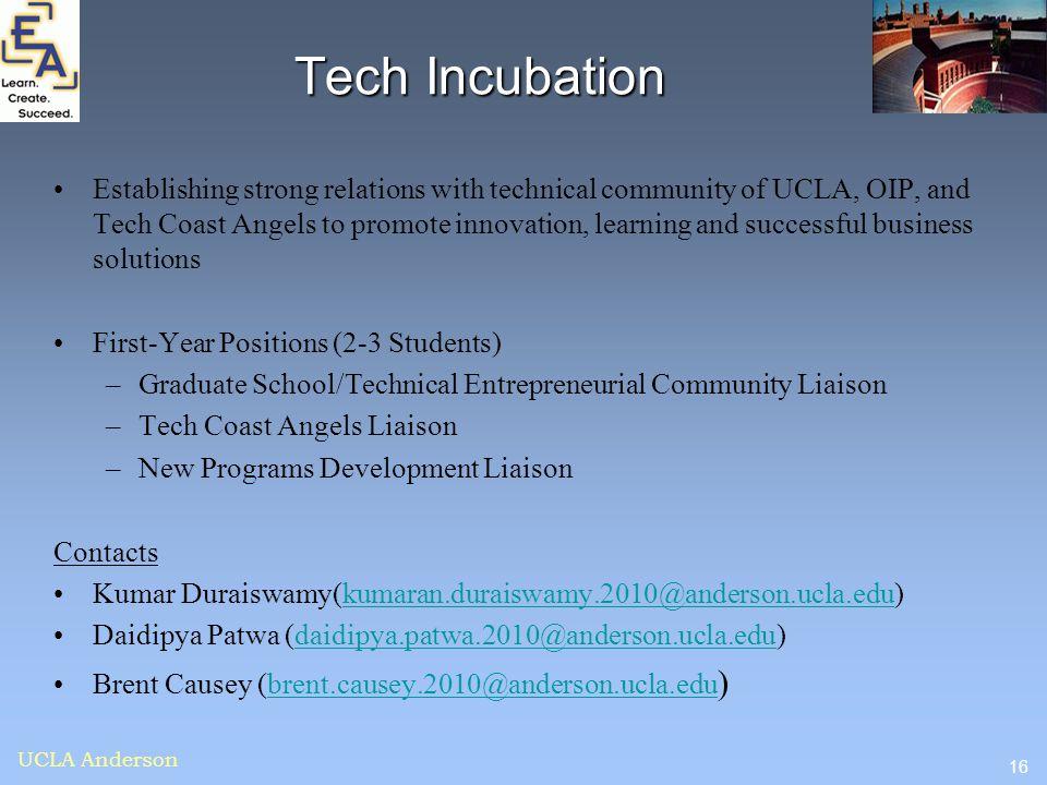 Tech Incubation