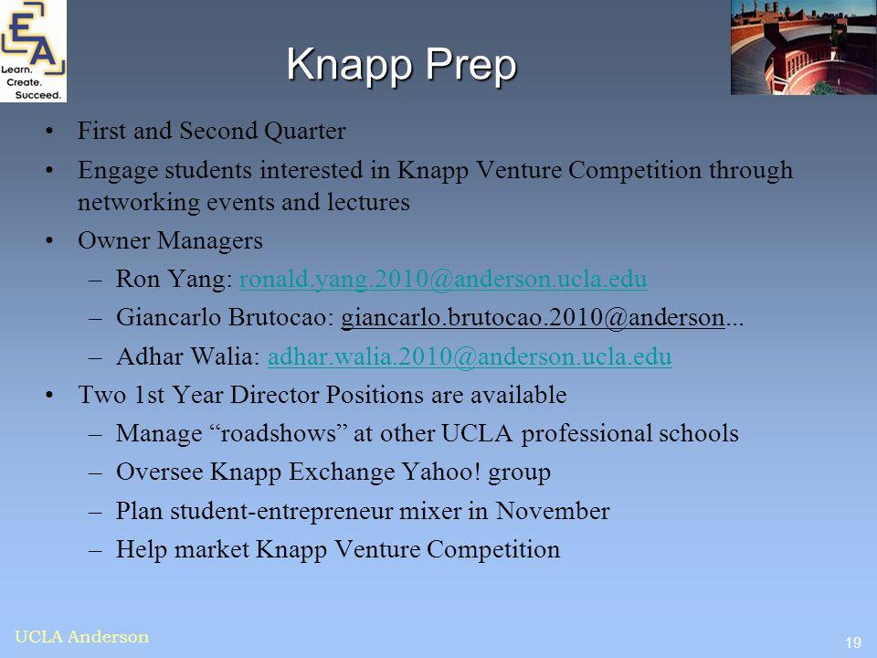 Knapp Prep First and Second Quarter