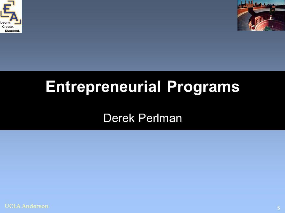 Entrepreneurial Programs Derek Perlman