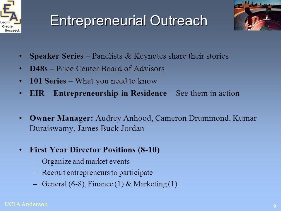 Entrepreneurial Outreach
