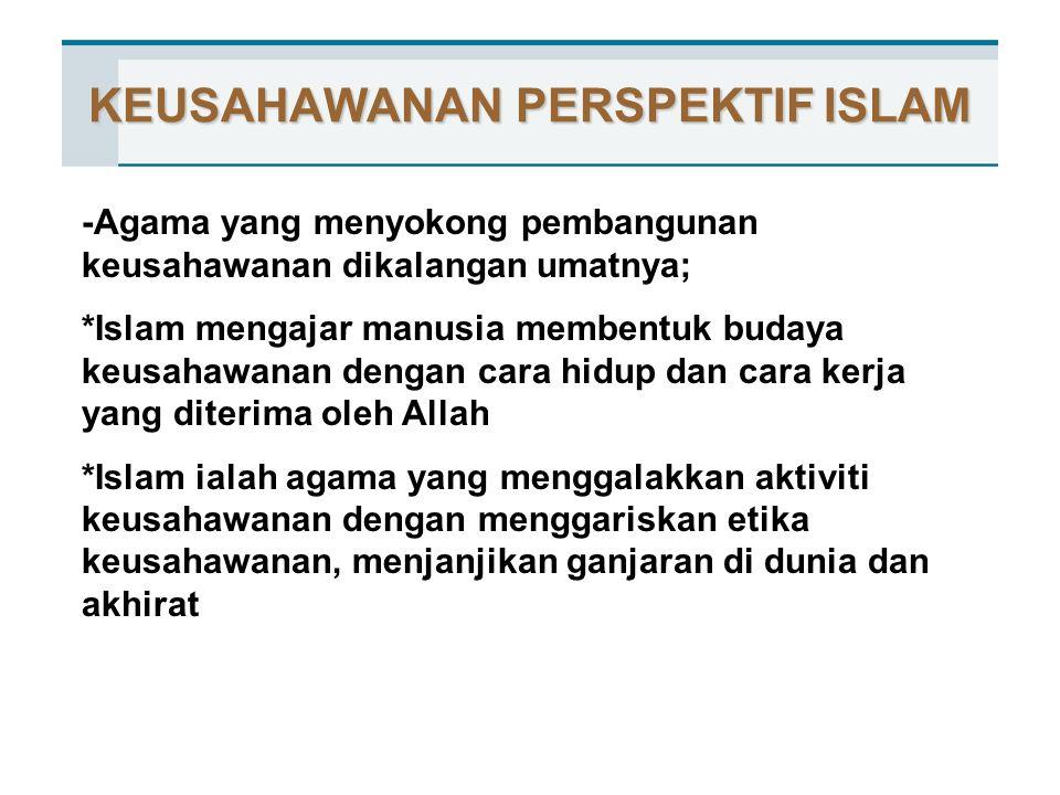 KEUSAHAWANAN PERSPEKTIF ISLAM