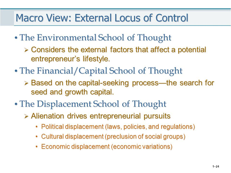 Macro View: External Locus of Control