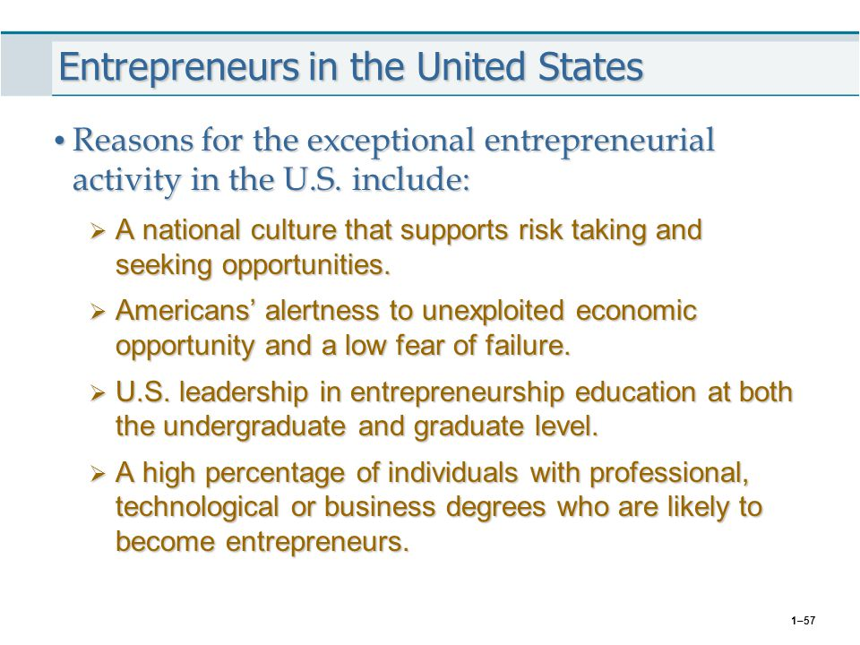 Entrepreneurs in the United States