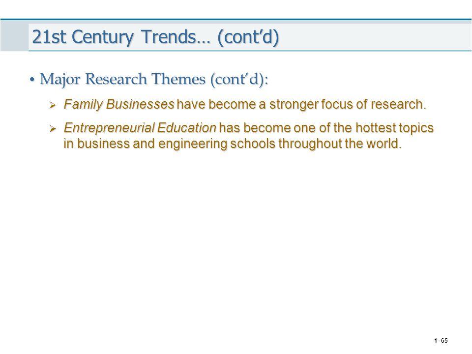 21st Century Trends… (cont'd)