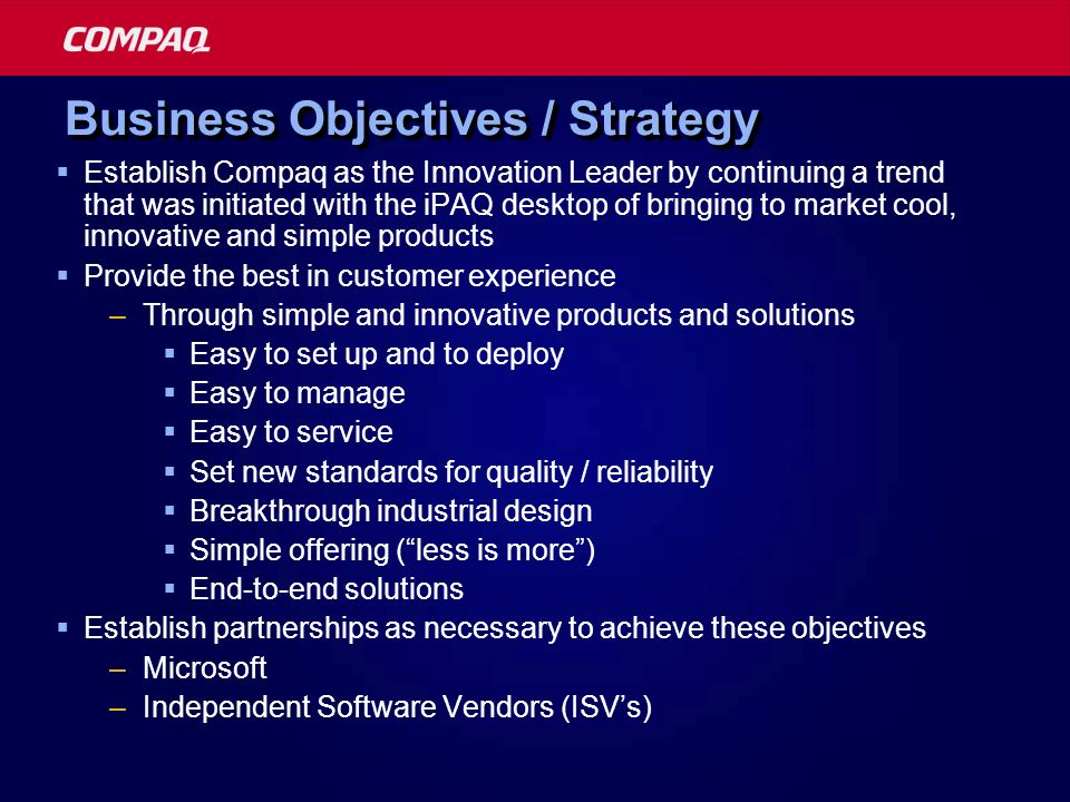 Business Objectives / Strategy