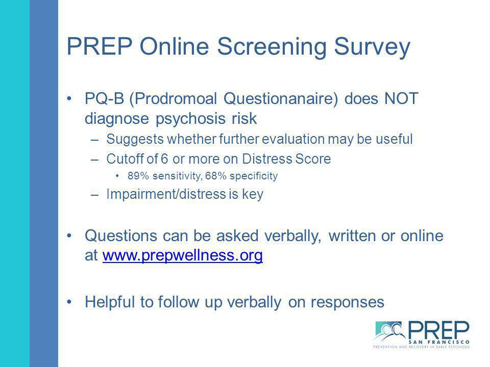 PREP Online Screening Survey