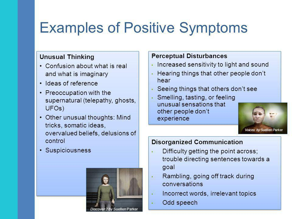 Examples of Positive Symptoms