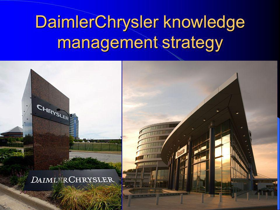 DaimlerChrysler knowledge management strategy