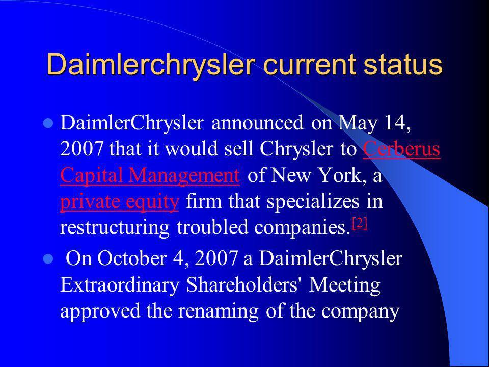 Daimlerchrysler current status
