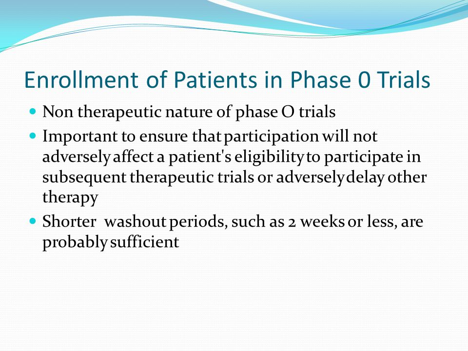 Enrollment of Patients in Phase 0 Trials