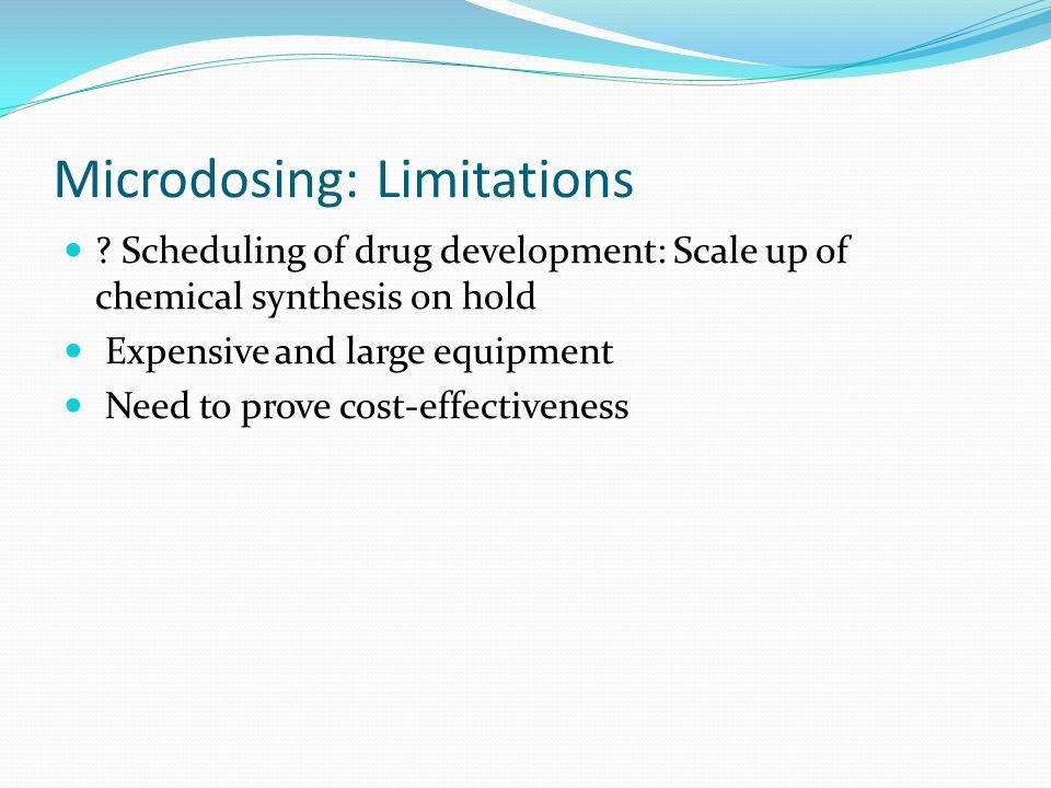 Microdosing: Limitations