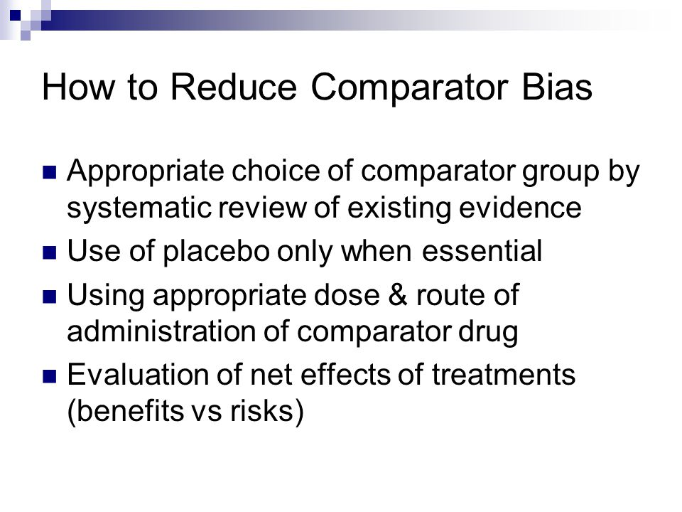 How to Reduce Comparator Bias