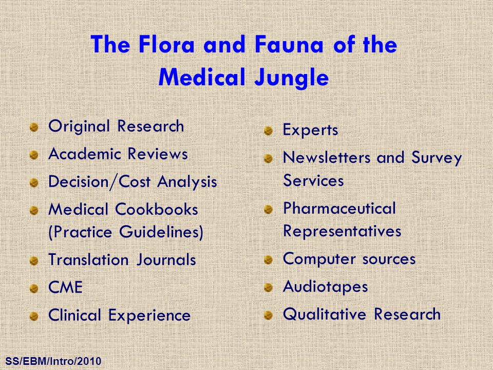 The Flora and Fauna of the Medical Jungle
