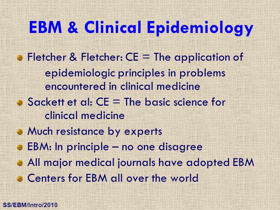 EBM & Clinical Epidemiology