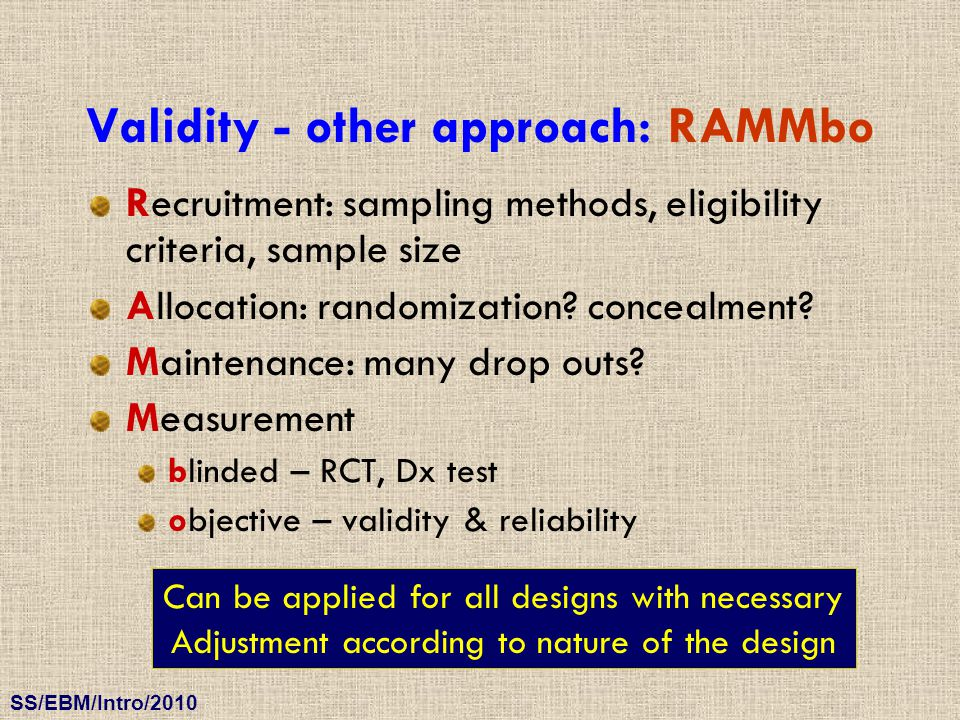 Validity - other approach: RAMMbo