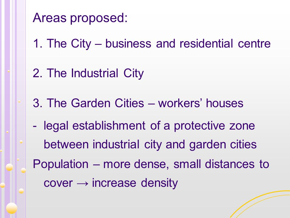 Areas proposed: The City – business and residential centre