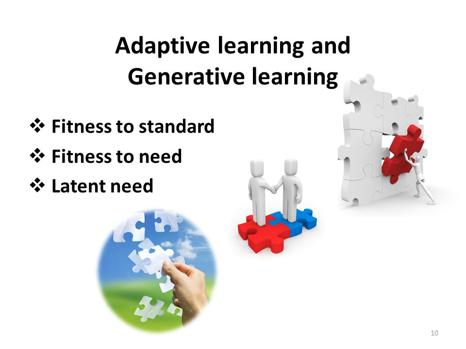 Adaptive learning and Generative learning